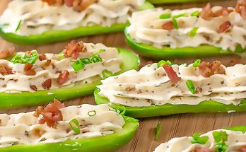 Keto Bacon Cattle Ranch Stuffed Cucumber Snacks